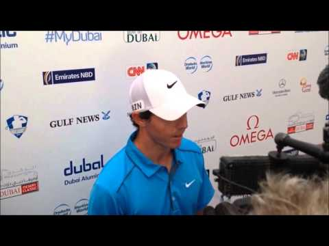 Rory Mcilroy clip after his third round at the 25th Omega Dubai Desert Classic 2014