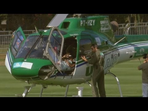 World Cup 2014: Brazil's Neymar arrives home after back injury