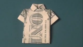 How To Make A Dollar Bill T-Shirt Origami Fun Tutorial