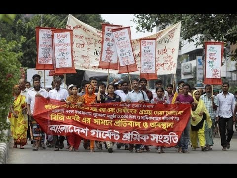 Bangladesh Factory Workers Protesting For $100 Per Month Met With Violence