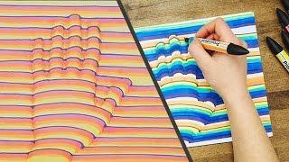 Como desenhar sua mão em 3D com um truque simples