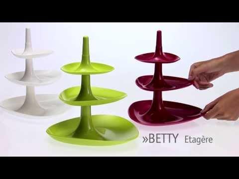 Koziol Betty Contemporary Three Tiered Cake Stand