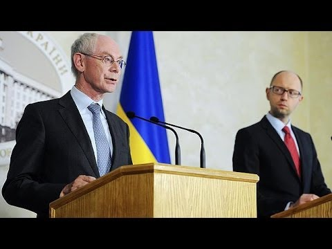 EU's Van Rompuy slams Russia during visit of support to Kyiv