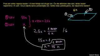 Naloga –  razmerje in algebra