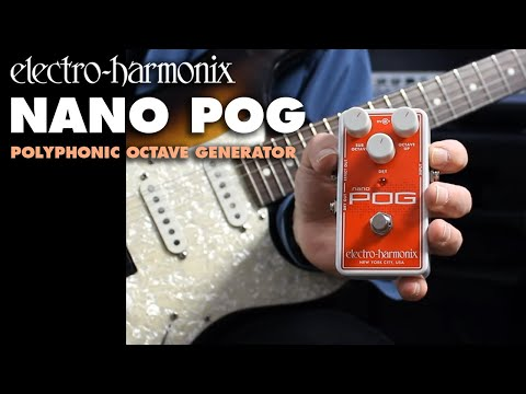 Electro Harmonix Nano POG Octave Effects Pedal for Guitar