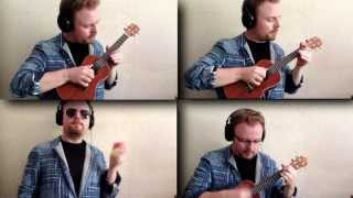 DAFT PUNK GET LUCKY AWESOME UKULELE VERSION!