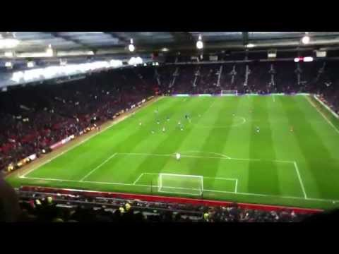 Man United 2-2 Chelsea - Ramires goal in the Chelsea away end!