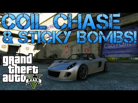 Grand Theft Auto V | MY BEST GTA VIDEO YET! | COIL COP CHASE & STICKY BOMBS!