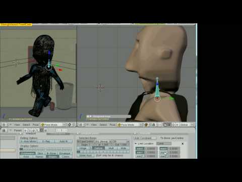 Blender Tutorial #2.5: Building the Jaw Control with a Custom Bone Shape...