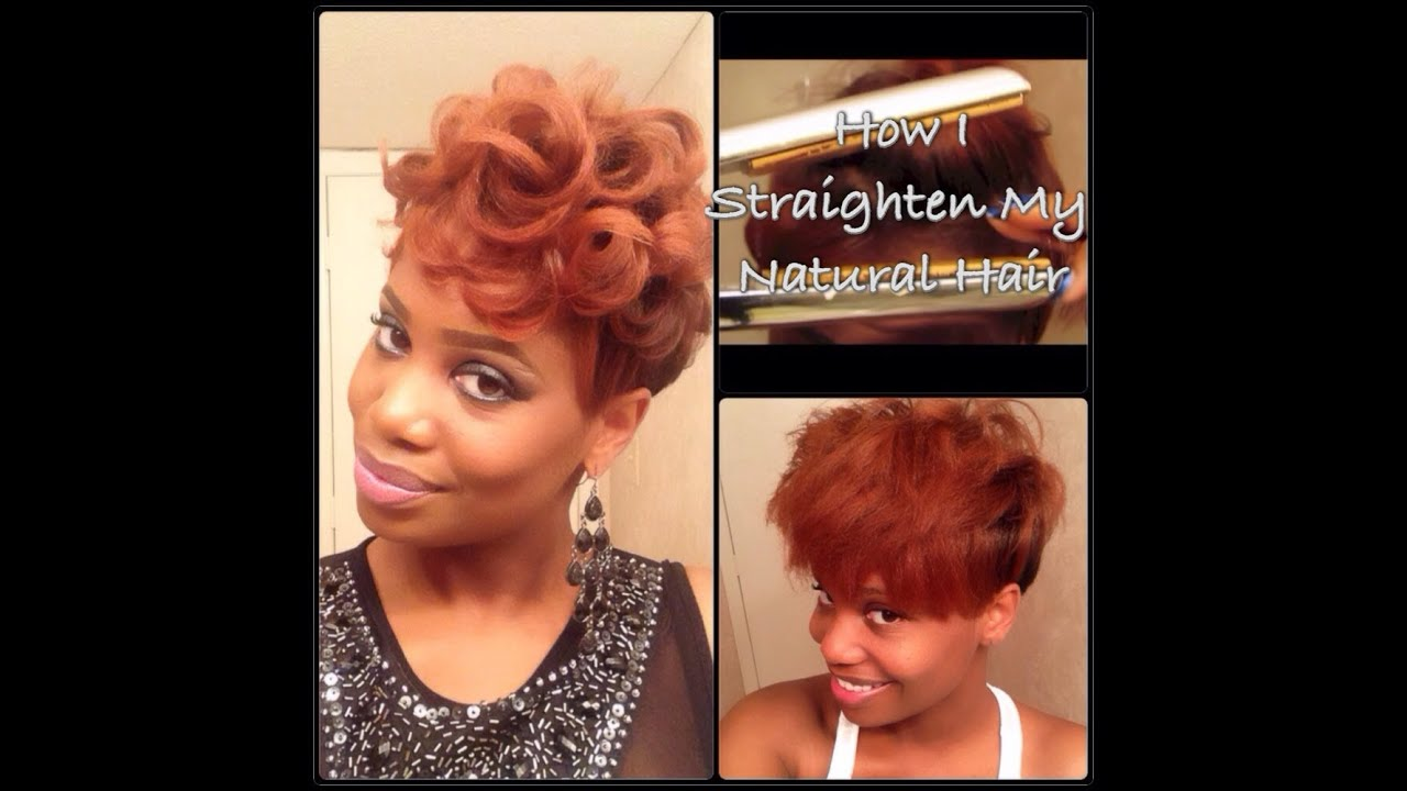 Process: How I Straighten My Tapered Natural Hair - YouTube