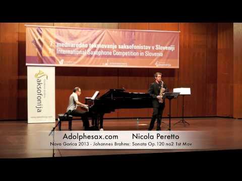 Nicola Peretto – Nova Gorica 2013 – Johannes Brahms: Sonata Op 120 no2 1st Mov