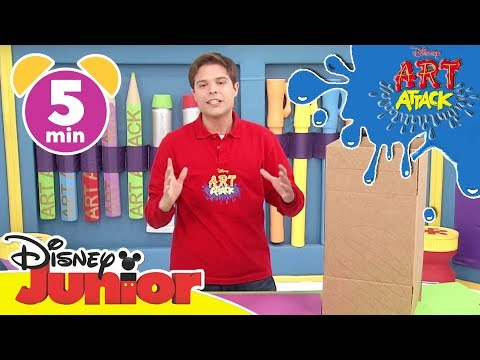 Art Attack Bastelclip #13 - Das Basketballmonster | Disney Junior
