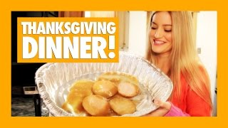 How to Make a Simple Thanksgiving Dinner   iJustine Cooking