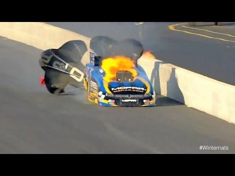 Matt Hagan engine explodes at the 2015 Circle K NHRA #Winternats