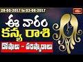 Virgo Weekly Horoscope By Sankaramanchi    28 May 2017 - 03 June 2017    Bhakthi TV