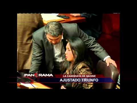 La candidata de Nadine: ajustado triunfo de Ana María Solórzano