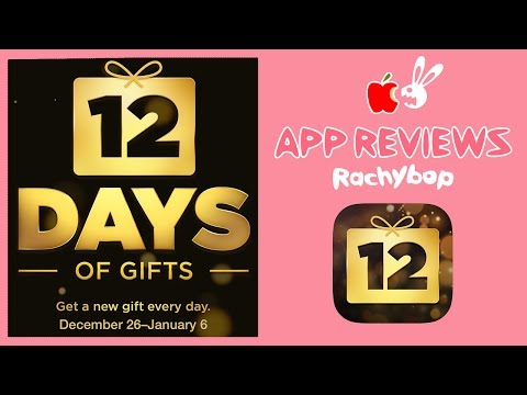 12 Days of Gifts iTunes App Review [What App Wednesday] | Rachybop