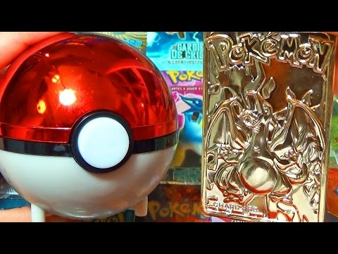 Ouverture d'une POKEBALL ULTRA-RARE SURPRISE D'UNE CARTE POKEMON EN OR DE 23 KARATS !