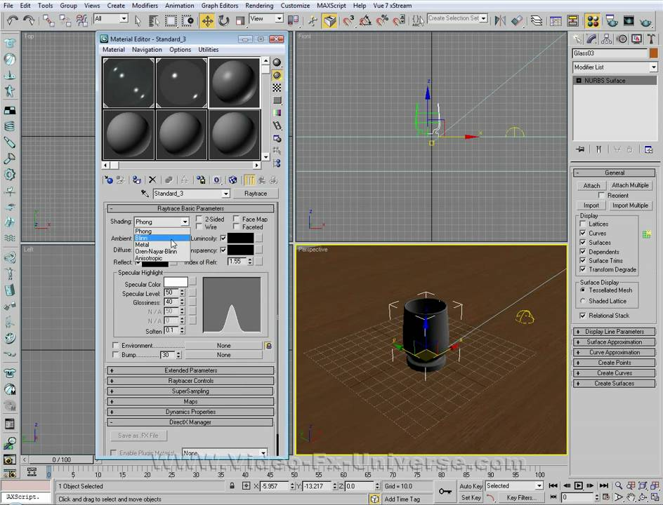 Create Realistic Glass In 3ds Max Tutorial Youtube