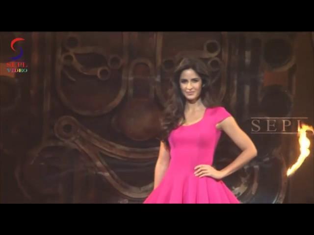 Sexy Doll Katrina Kaif In Short Pink Dress Exposing Hot Assets
