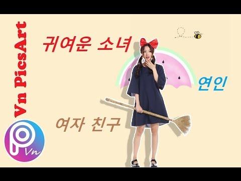 #7[PicsArt] Hướng dẫn tách nền, đổ bóng, vẽ viền, cắt, ghép... theo style Korea Teen
