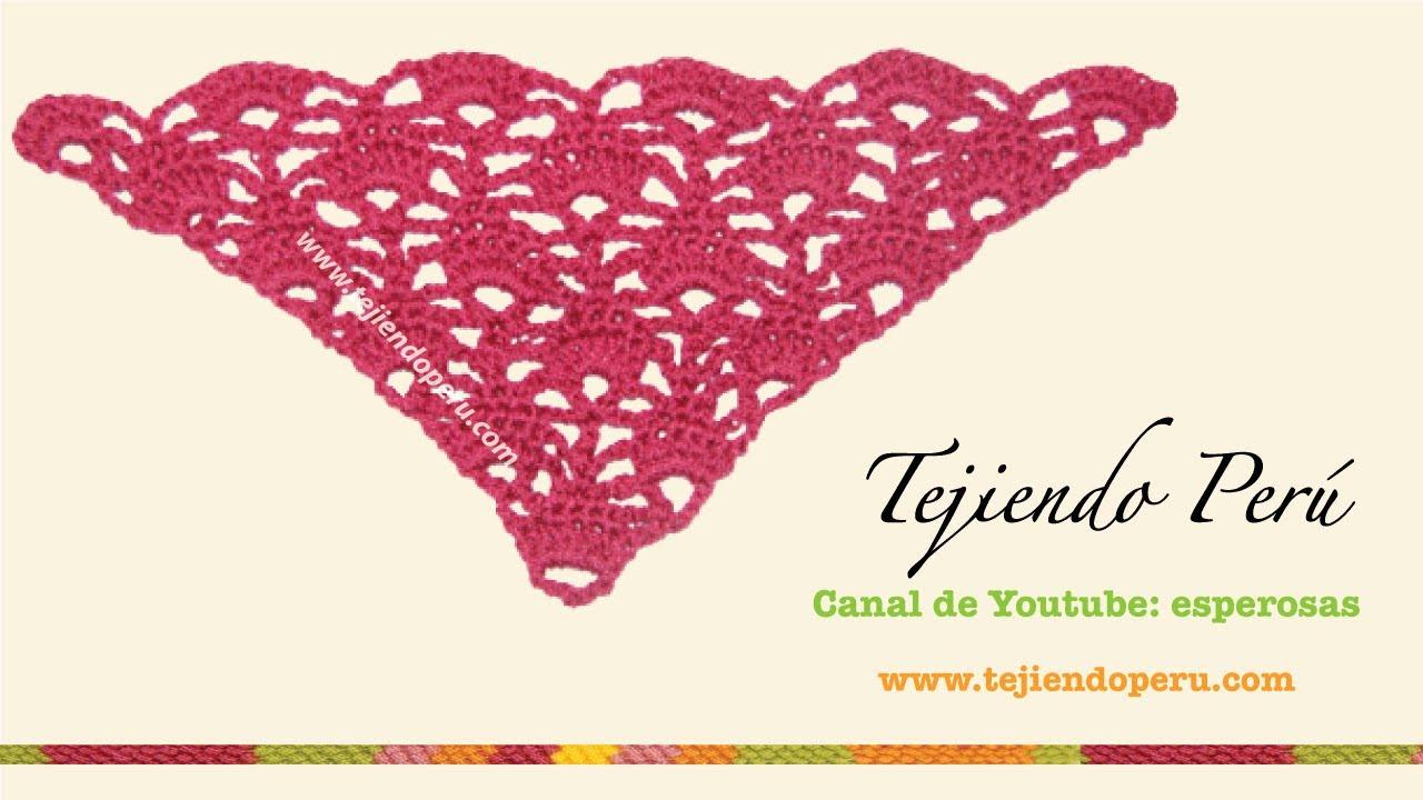 Punto triangular tejido a crochet - YouTube