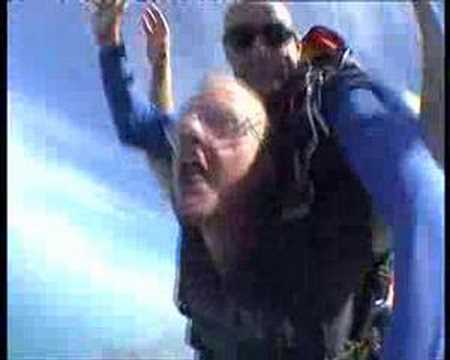 Robert van der Bent skydiving on mission beach