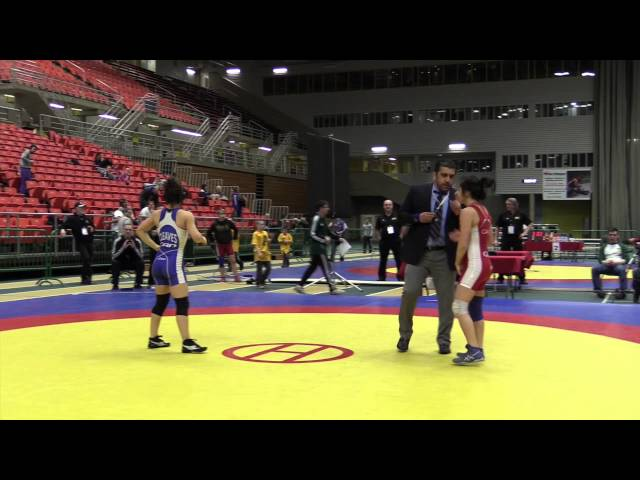 2014 Junior National Championships: 51 kg Wrestleoff Cierra Carere vs.  Allyssa Cleaves