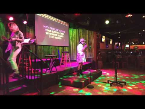 Karaoke Me and Bobby McGee in the style of Janis Joplin, sung by Kat