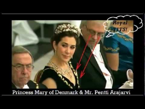 فيديو زوج رئيسة فنلندا ينظر إلى صدر زوجة أمير الدنمارك