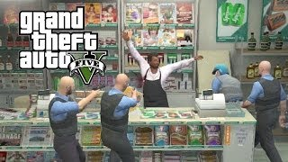 GTA 5: Funniest COP Moments #2 (Back Room Bl*w Jobs, Towing Cars, Store Clerks)