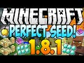 ★ Minecraft 1.8.1 Seeds: PERFECT SEED! 12 Diamonds, Dungeon, Temple, 2 Villages at Spawn! (1.8)