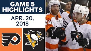 NHL Highlights | Flyers vs. Penguins, Game 5 - Apr. 20, 2018