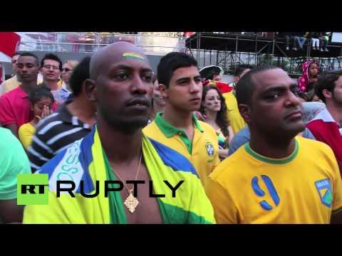 Brazil: Germans jubilant while Brazilians weep