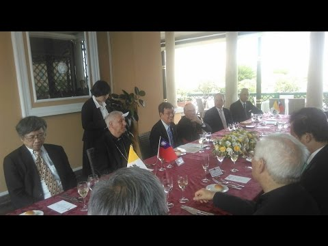 Attend a banquet with high-level clergy members from the Vatican