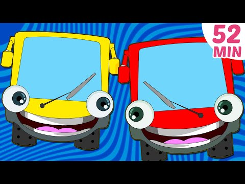 Wheels on The Bus Plus More Nursery Rhymes Collection | 52 Minutes Nursery Rhymes by HooplaKidz