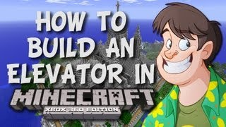 Minecraft: How To Build An Elevator / Portal (Xbox 360