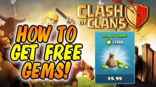Clash Of Clans : HOW TO GET FREE GEMS (Method #1) (USA