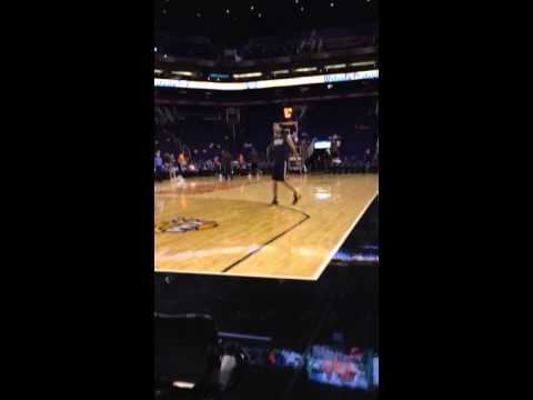 Luis Scola warming up! Suns vs Pacers 2014!