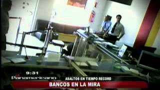 Cámaras Captan A Ladrones Al Momento De Asaltar Un Banco