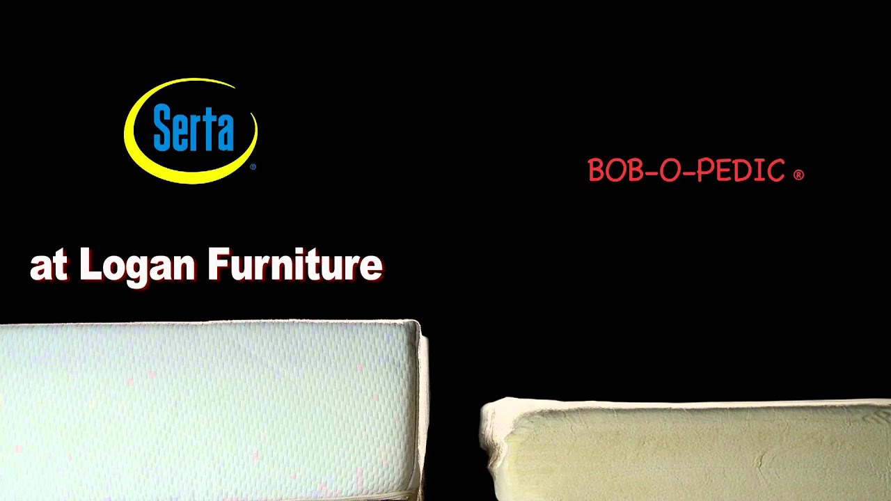 Bob o pedic vs serta at logan furniture youtube