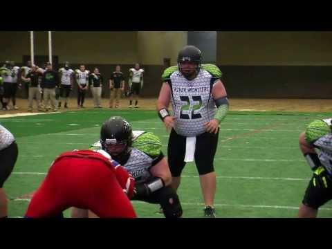 NKY River Monsters 36 vs. Bluegrass Warhorses 20 - CIFL Week One 2014 (Highlights)