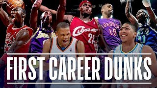 NBA Stars' First Career Dunk (Michael Jordan, Kobe Bryant, Vince Carter, LeBron James)