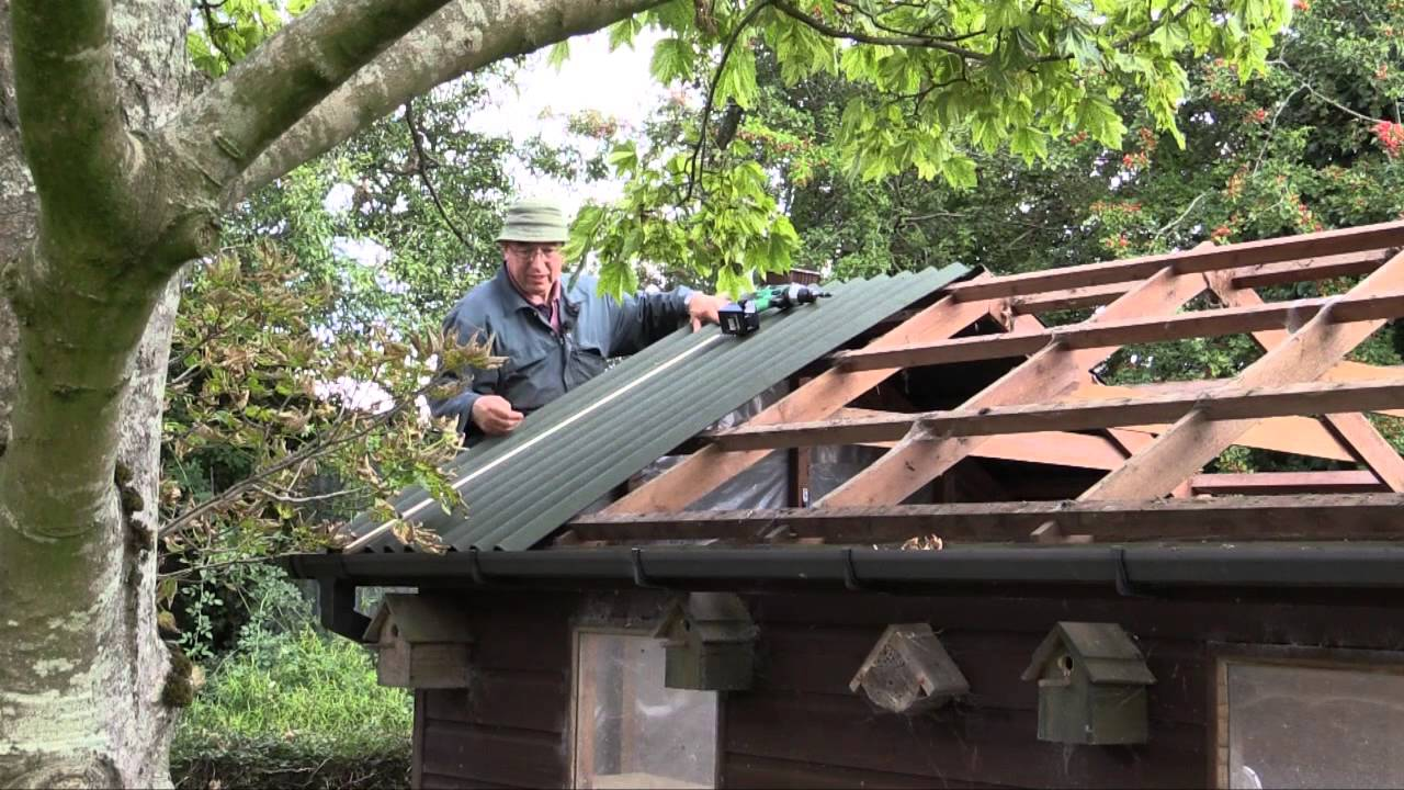 How To Re Roof A Shed With Onduline Corrugated Roofing