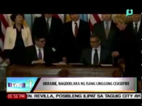 [News@1 The Week That Was] Ukraine, nagdeklara ng isang linggong ceasefire [06|21|14]