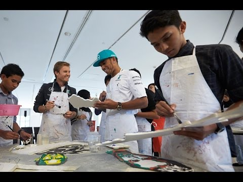 Doughnuts on the streets of Kuala Lumpur with Lewis Hamilton and Nico Rosberg