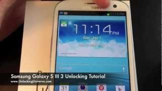 How To Unlock Samsung Galaxy S3 III I747 For All Gsm