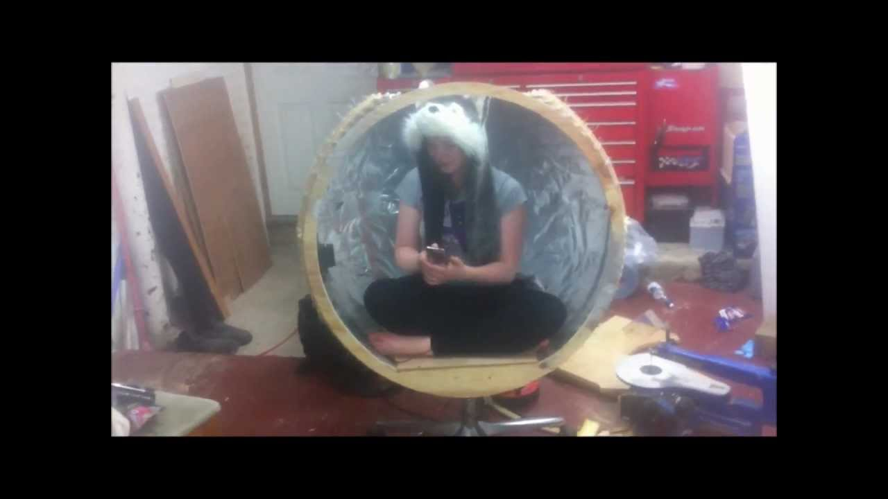 homemade egg chair youtube