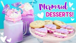 How to Make Mermaid Desserts (Freakshakes, Macarons, and Cookies)! 💕🐠