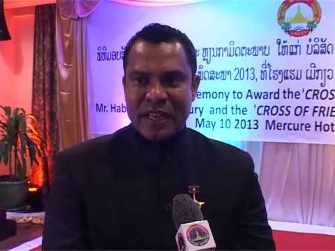 Lao NEWS on LNTV-The Lao government presents medals to the HSMM Group 21/5/2013